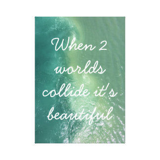 Cute Saying Ocean Canvas Canvas Print
