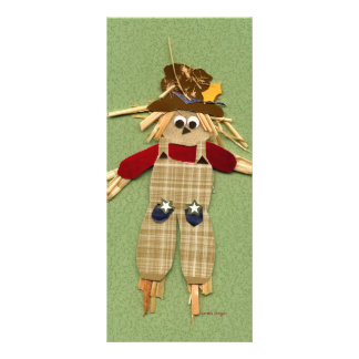 Cute Scarecrow Bookmark Personalized Rack Card
