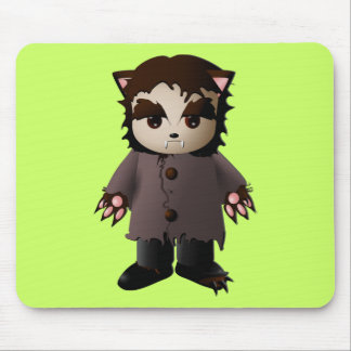 Cute Scary Werewolf Mouse Pad
