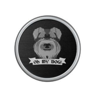 Cute Schnauzer Oh My Dog Bluetooth Speaker