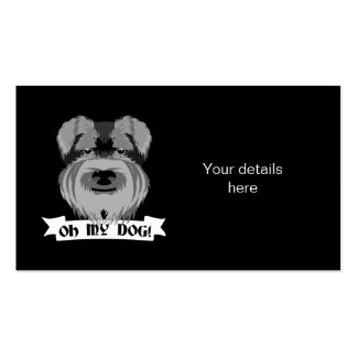 Cute Schnauzer Oh My Dog Pack Of Standard Business Cards