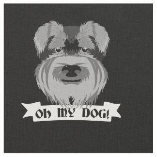 Cute Schnauzer Oh My Dog Fabric