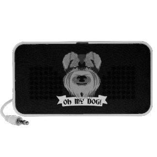 Cute Schnauzer Oh My Dog PC Speakers