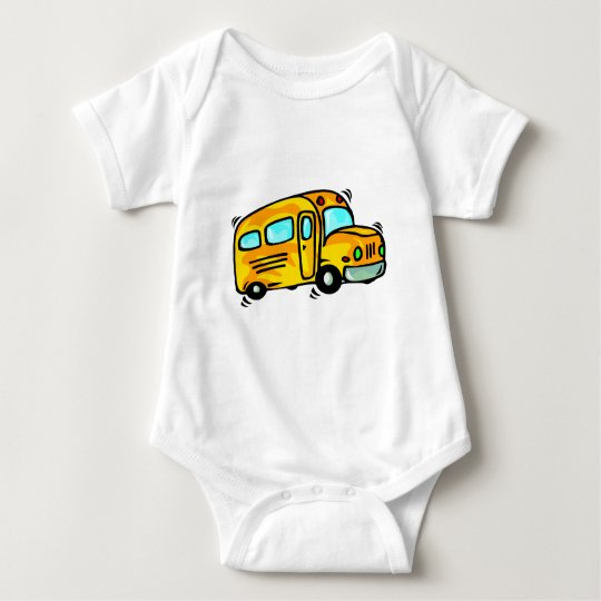 Cute School Bus Baby Bodysuit
