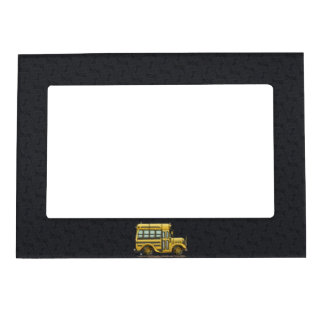 Cute School Bus Magnetic Picture Frame