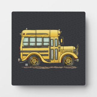 Cute School Bus Plaques
