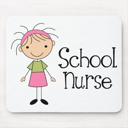 Cute School Nurse Mouse Mat