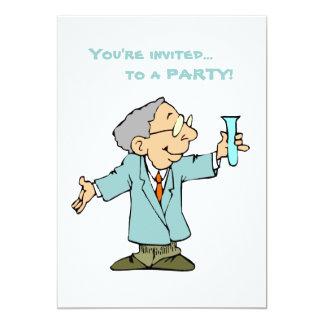 Cute Scientist in Lab Coat Custom Invite