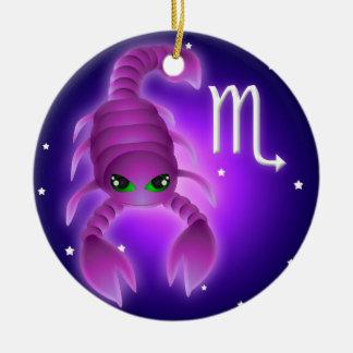 Cute Scorpio Zodiac Christmas Ornament