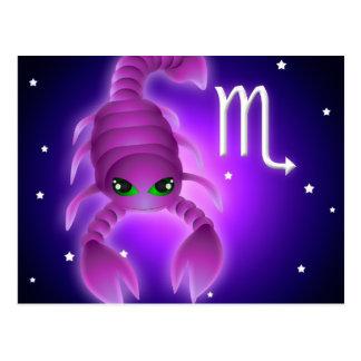Cute Scorpio Zodiac Postcard