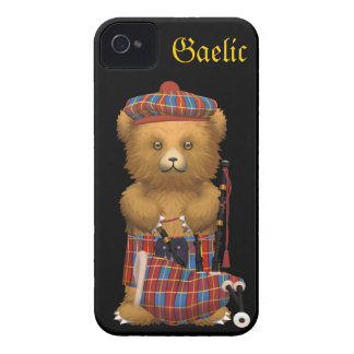 Cute Scottish Teddy Bear - Gaelic iPhone 4 Covers