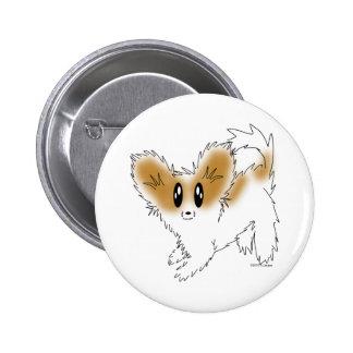Cute Scruffy Papillon Puppy Dog Pin