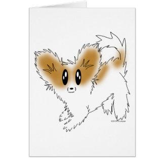 Cute Scruffy Papillon Puppy Dog Greeting Card
