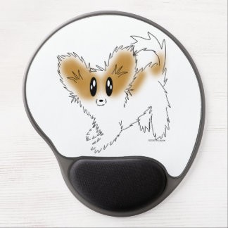 Cute Scruffy Papillon Puppy Dog Gel Mouse Mats