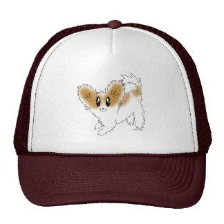 Cute Scruffy Papillon Puppy Dog Hat