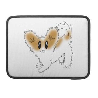 Cute Scruffy Papillon Puppy Dog Sleeve For MacBooks