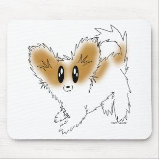 Cute Scruffy Papillon Puppy Dog Mousepad