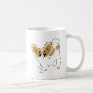 Cute Scruffy Papillon Puppy Dog Mugs