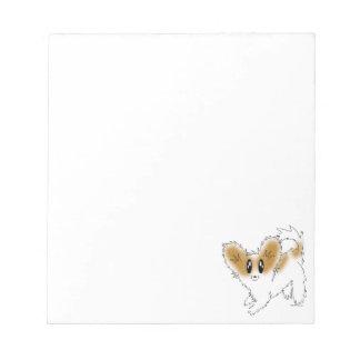 Cute Scruffy Papillon Puppy Dog Memo Pads