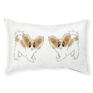 Cute Scruffy Papillon Puppy Dog Pet Bed