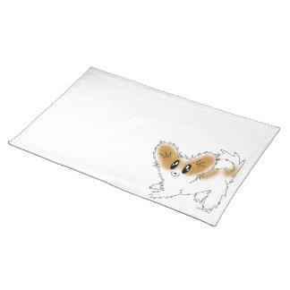 Cute Scruffy Papillon Puppy Dog Placemat