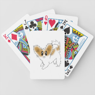 Cute Scruffy Papillon Puppy Dog Poker Deck