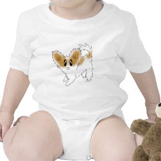Cute Scruffy Papillon Puppy Dog Bodysuits