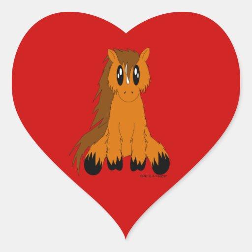 Cute Scruffy Pony Sticker