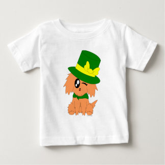 Cute Scruffy St. Patrick's Day Leprechaun Puppy T-shirt