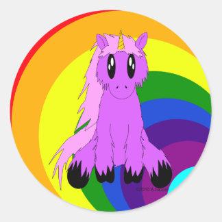 Cute Scruffy Unicorn Sticker