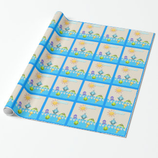 Cute Sea Animals Baby Shower Wrapping Paper