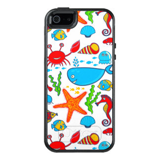 Cute Sea Animals OtterBox iPhone 5/5s/SE Case