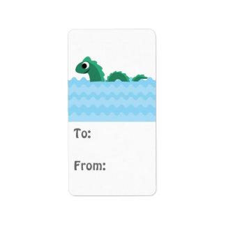 Cute Sea Monster Address Label
