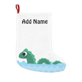 Cute Sea Monster Small Christmas Stocking