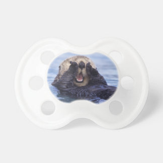 Cute Sea Otter   Alaska, USA Baby Pacifier
