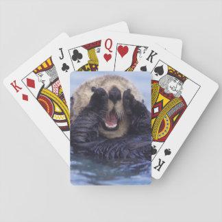 Cute Sea Otter   Alaska, USA Playing Cards