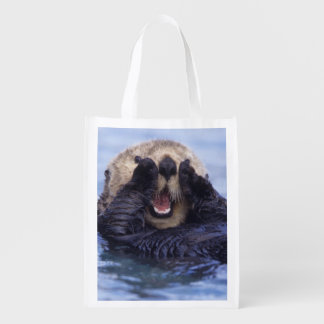Cute Sea Otter | Alaska, USA Reusable Grocery Bag
