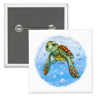 Cute Sea turtle button