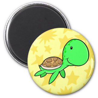 Cute Sea Turtle Button Fridge Magnet