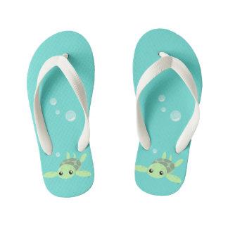 Cute Sea Turtle Flops, Kids Kid's Flip Flops