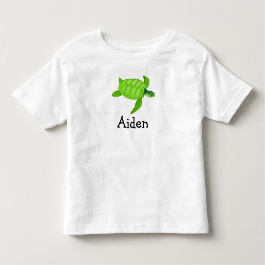 Cute sea turtle personalised with childs name toddler