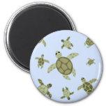 Cute Sea Turtles 6 Cm Round Magnet