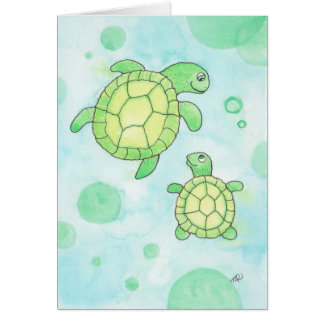 Cute Sea Turtles Father's Day Card