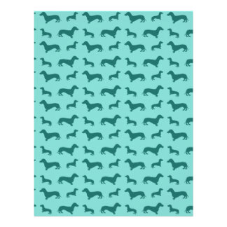 Cute seafoam green dachshunds full color flyer