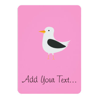 Cute seagull 13 cm x 18 cm invitation card