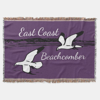 Cute Seagull Beach East Coast Beachcomber throw