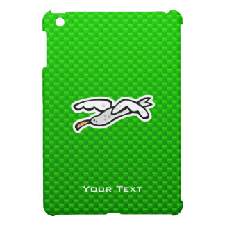 Cute Seagull; Green iPad Mini Cases