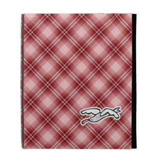 Cute Seagull; Red Plaid iPad Folio Covers