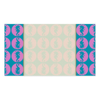 Cute Seahorses in Pink and Teal Pack Of Standard Business Cards