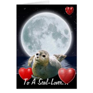 Cute Seal-lover Birthday Card